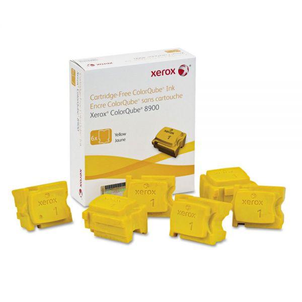 Xerox 108R01016 High-Yield Ink Stick, 16900 Page-Yield, Yellow, 6/Box