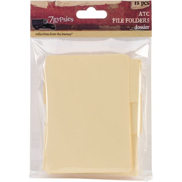 "ATC Tabbed File Folders 3""X3.75"" 12/Pkg"