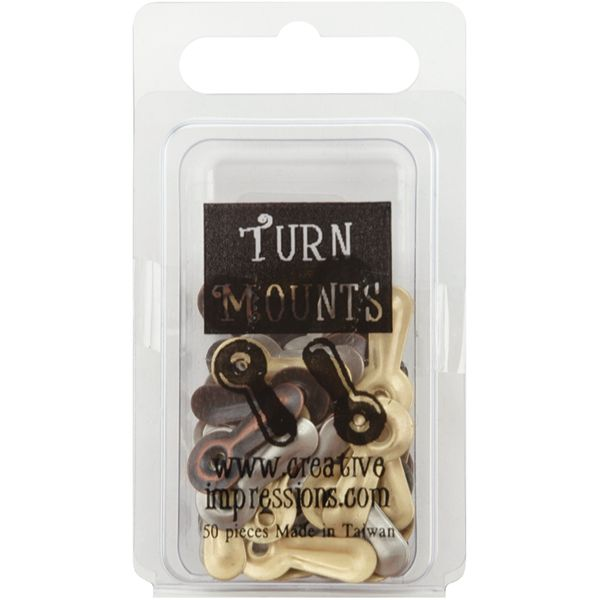 Metal Turn Mounts 50/Pkg