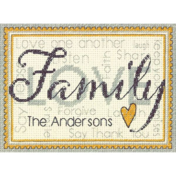 Dimensions Family Mini Counted Cross Stitch Kit