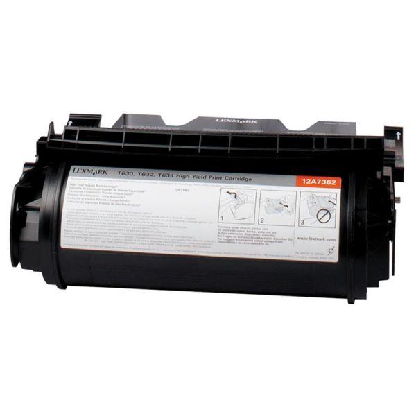 Lexmark 12A7362 Black High Yield Toner Cartridge