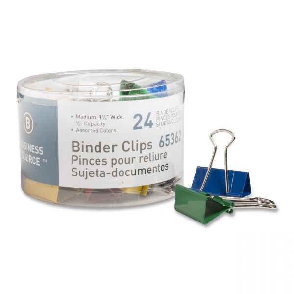 Business Source Medium Binder Clips
