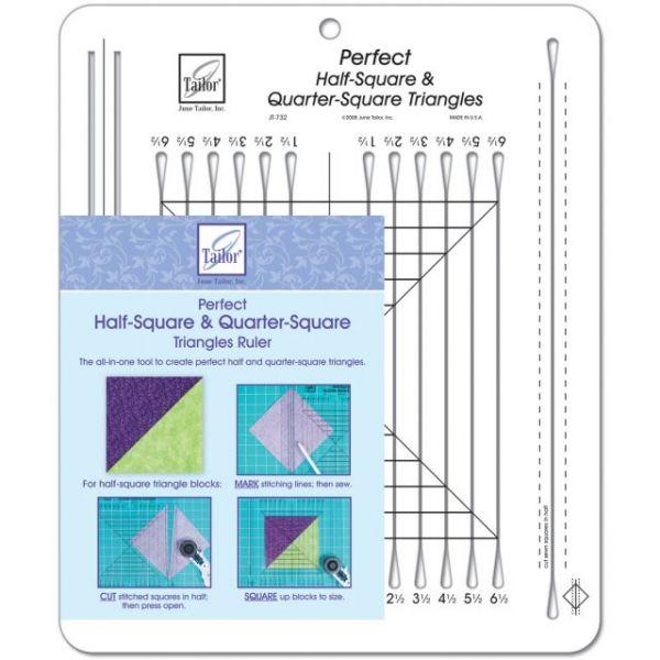 Perfect Half Square & Quarter Square Triangles Ruler