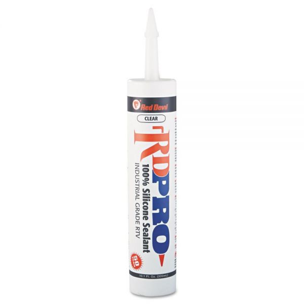 Red Devil Silicone Sealant Cartridge, 9oz, Clear