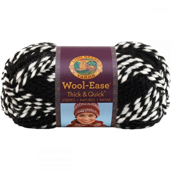 Lion Brand Wool-Ease Thick & Quick Yarn - Tigers Stripes