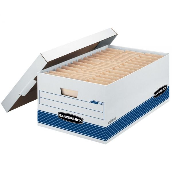 Bankers Box Stor/File Medium Duty Storage Boxes with Lift-Off Lids