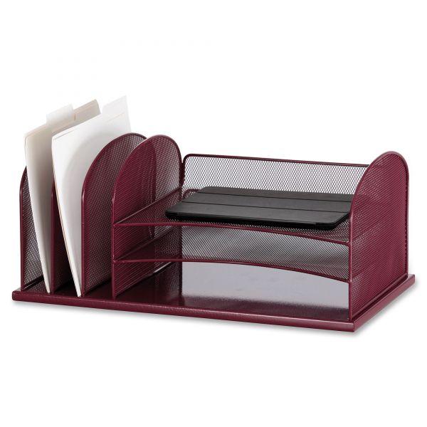 Safco Onyx 3 Tray/3 Upright Section Desk Organizer