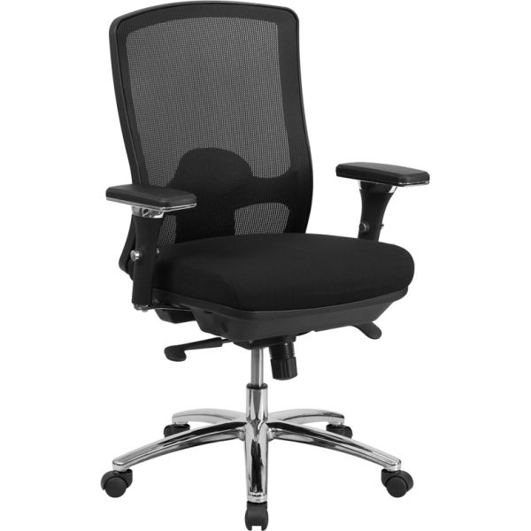 Flash Furniture Big & Tall Multi-Functional Swivel Chair [LQ-2-BK-GG]