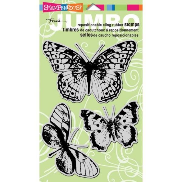 "Stampendous Jumbo Cling Rubber Stamp 7""X5"" Sheet"