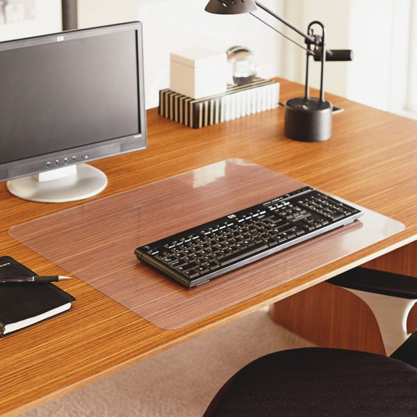 ES Robbins EverLife Clear Desk Pad, 36 x 20