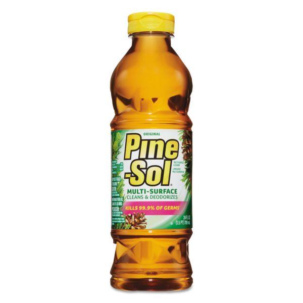 Pine-Sol Multi-Surface Cleaner, Pine Disinfectant, 24oz Bottle, 12 Bottles/Carton