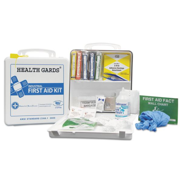 Hospital Specialty Co. Health Gards First Aid Kit, 50 Person, 290 Pieces, 9 3/4 in x 14 in x 2 3/4 in