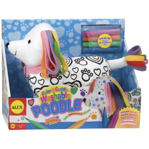 ALEX Toys Color & Cuddle Washable Poodle Kit