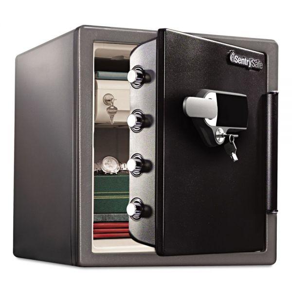 Sentry Safe Fire-Safe 1.23 ft3 Touchscreen w/Alarm, 16 3/8x19 3/8x17 7/8, Gunmetal Gray/Blk