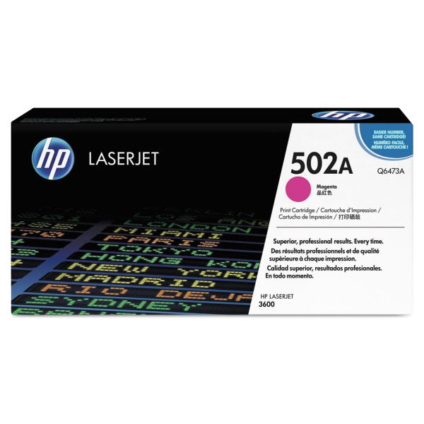 HP 502A Magenta Toner Cartridge (Q6473A)