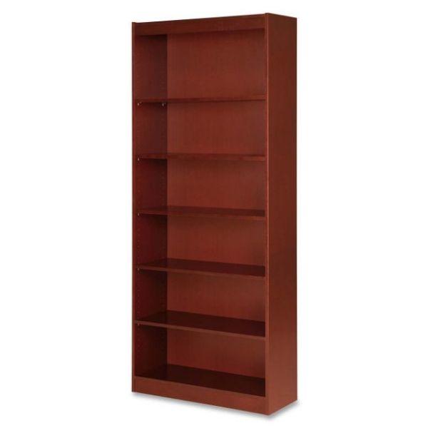 Lorell 6-Shelf Panel Wood Veneer Bookcase
