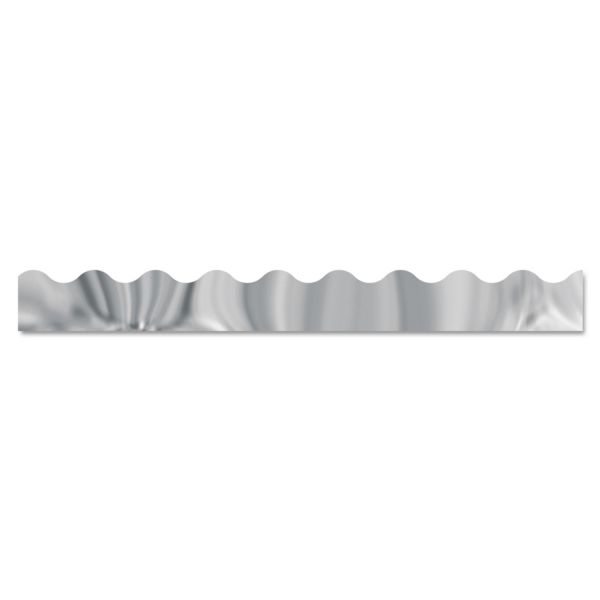 "TREND Terrific Trimmers Metallic Borders, Silver, 12 Strips, 2 1/4"" x 39"" each"