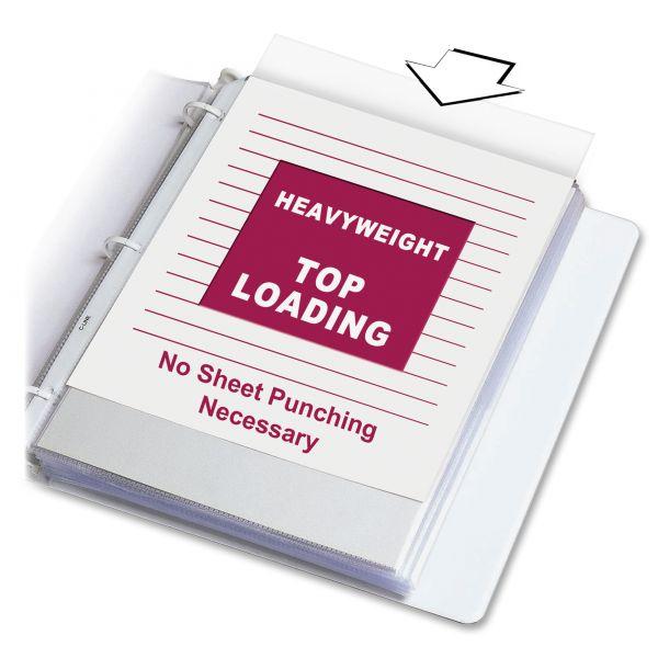 C-Line Heavyweight Polypropylene Sheet Protector, Letter, Heavyweight, Non-Glare, Clear, 100/BX