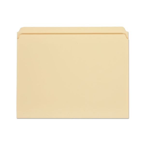 Universal File Folders, Straight Cut, One-Ply Top Tab, Letter, Manila, 100/Box