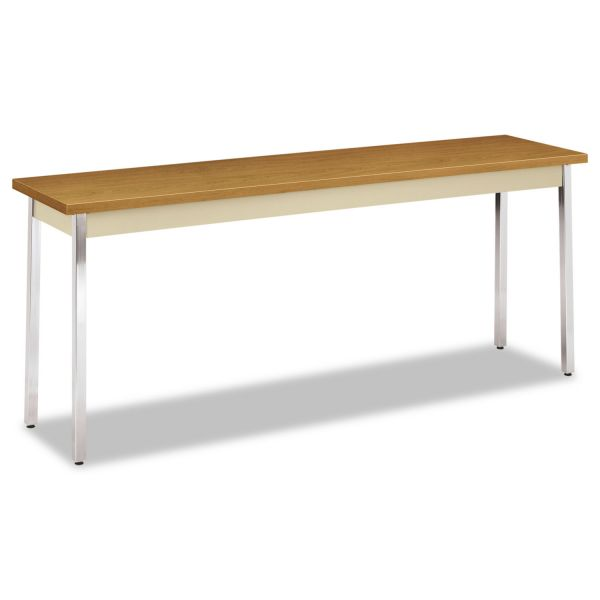 HON Utility Table, Rectangular, 72w x 18d x 29h, Harvest/Putty