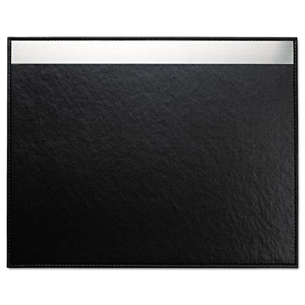 Artistic Architect Line Desk Pad, 24 x 19, Black/Silver
