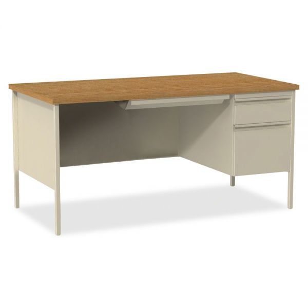 Lorell Fortress Series Right-Pedestal Computer Desk