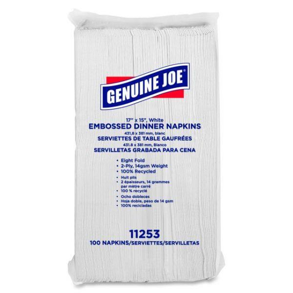 Genuine Joe Embossed Paper Dinner Napkins
