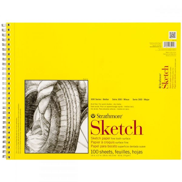 "Strathmore Sketch Spiral Paper Pad 14""X17"""
