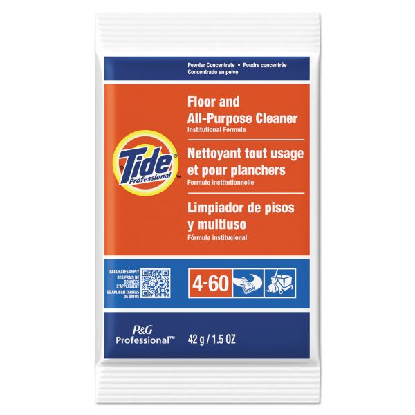 Tide Professional Floor & All-Purpose Cleaner, 1.5oz Packets, 100/Carton