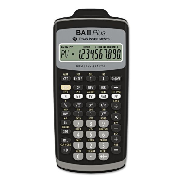 Texas Instruments BA-II Plus Adv. Financial Calculator