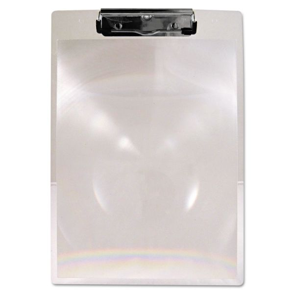 """Saunders MagBoard Clipboard, 1/2"""" Capacity, Clear Plastic, Letter"""