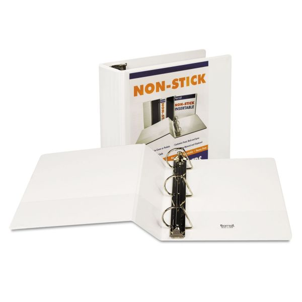 """Samsill Nonstick 3-Ring View Binder, 4"""" Capacity, D-Ring, White"""