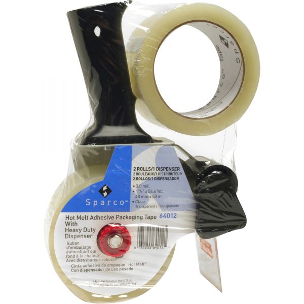 """Sparco Heavy Duty 2"""" Packing Tape with Pistol Grip Dispenser"""