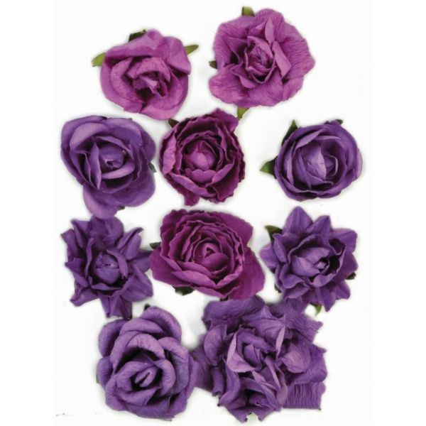 "Paper Blooms 1"" To 1.5"" 10/Pkg"