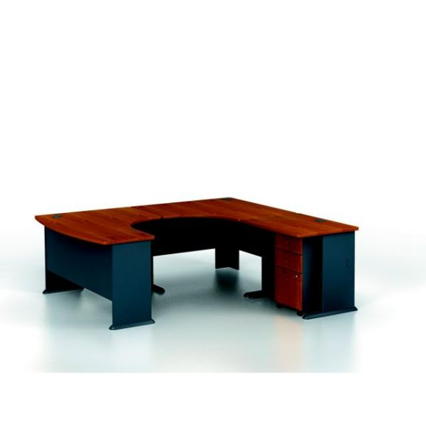 bbf Series A Professional Configuration - Natural Cherry finish by Bush Furniture