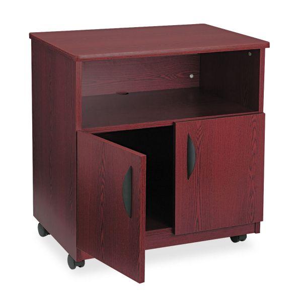 Safco Laminate Machine Stand w/Open Compartment, 28w x 19-3/4d x 30-1/2h, Mahogany