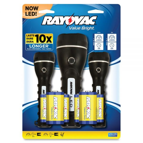 Rayovac Value Bright Flashlight Set