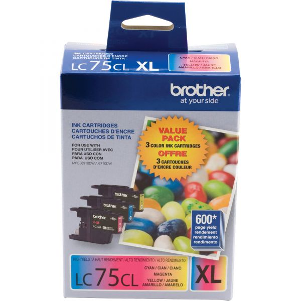 Brother LC75CL Color High Yield Ink Cartridges