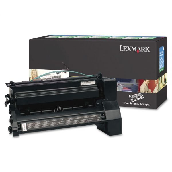 Lexmark C782X4KG Black Return Program Toner Cartridge