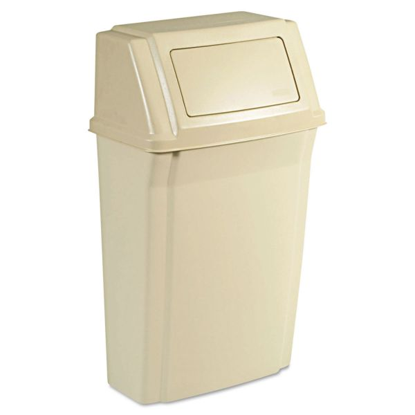 Rubbermaid Slim Jim Wall-Mounted 15 Gallon Trash Can