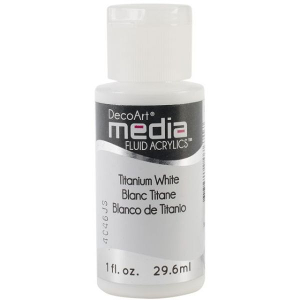 Deco Art Titanium White Media Fluid Acrylic