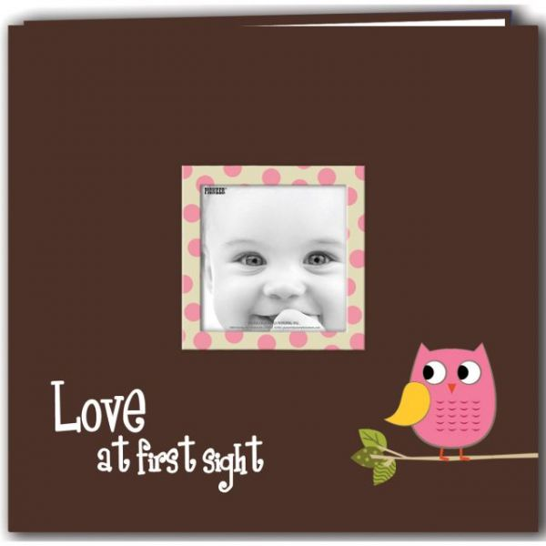 "Baby Owl Printed Design Post Bound Scrapbook Album 12""X12"""