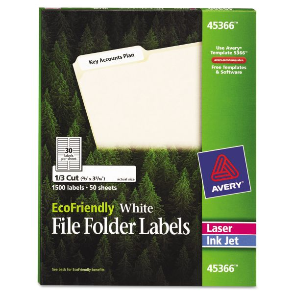 Avery EcoFriendly Permanent File Folder Labels