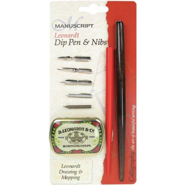 Manuscript Leonardt Dip Pen & Nibs Set