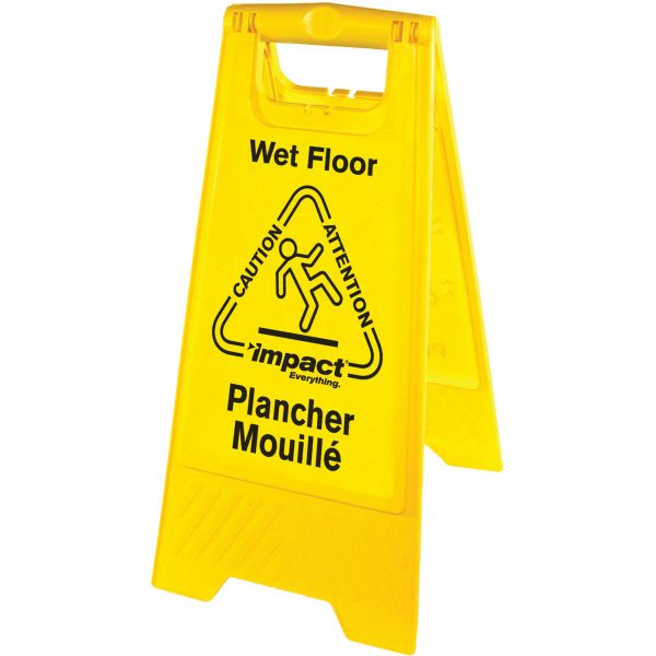 Impact Products English/Spanish Wet Floor Sign