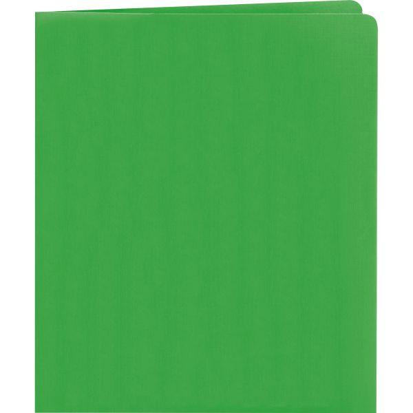 Smead Heavyweight Green Two Pocket Folders