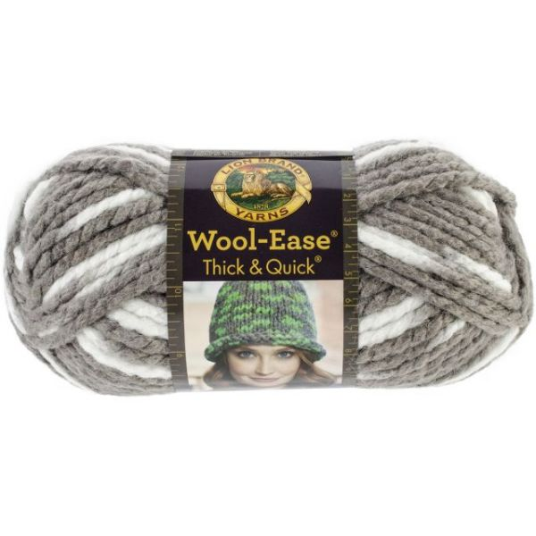 Lion Brand Wool-Ease Thick & Quick Yarn - Seagull