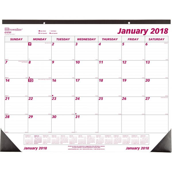 Brownline Monthly Desk/Wall Calendar