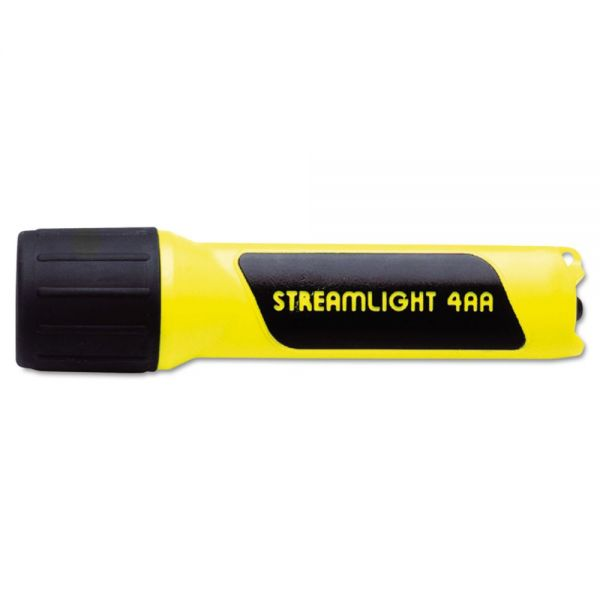Streamlight ProPolymer Flashlight, LED, 4AA (incl), Yellow