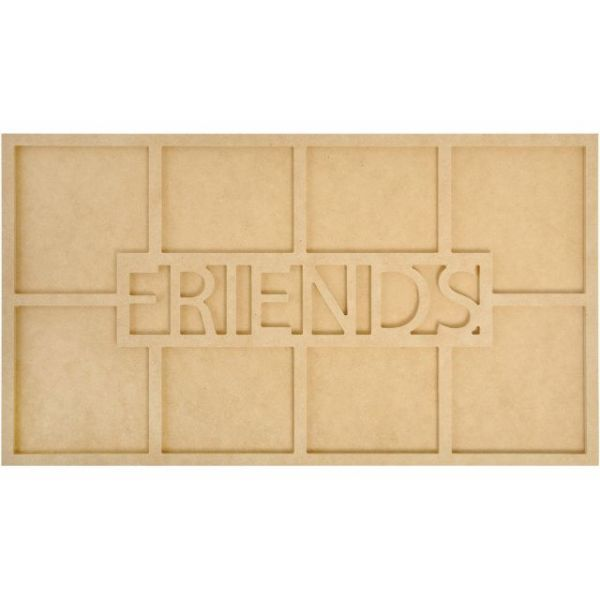 Beyond The Page MDF Friends Word Frame W/8 Openings